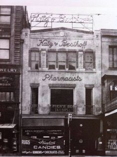 Katz & Besthoff (K&B) Drugs, Canal Street, New Orleans, LA; photo from early 20th century.