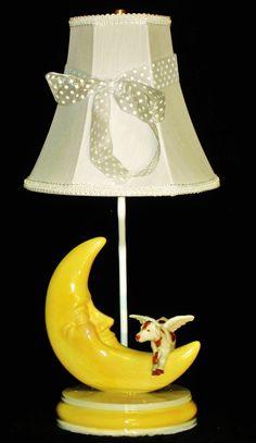Cow Jumped Over The Moon Nursery Rhyme Lamp. $110.00, via Etsy.