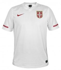 Nike: Jersey of Serbian National Football Team for the World Cup 2010 - white National Football Teams, Serbian, World Cup, Polo Shirt, Polo Ralph Lauren, Nike, Sports, Mens Tops, Hs Sports
