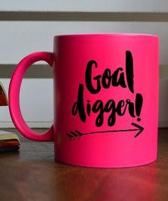 Look at this #zulilyfind! Pink 'Goal Digger!' Mug #zulilyfinds