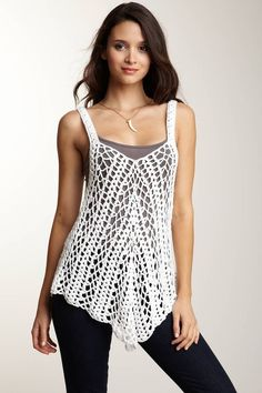 Crochet top - detailed written instructions in English ASOS inspired tank