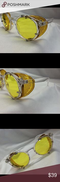Sunglasses Eyeglasses Holtzmann Inspired Fashion UV400 custom made glasses. Polycarbonate lenses yellow like Dr Holtzmann with detachable side shields. Roundish hipster style in crystal. Outstanding quality. Custom made in our on site optical lab. Can be done in Rx too. Just ask. Fast shipment. Never worn never sold brand new. phantym optics Accessories Glasses