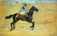 Max Slevogt - Arabs on horseback