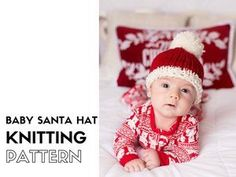 Make this easy knitted Santa hat for your baby this Christmas and use it in your holiday photos! It is a really quick and easy to make, knit up on size 9mm needles (US 13) with chunky yarn. So not only is it cute but also really cosy! Take a look at the pattern and get started today >>