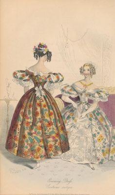 May, 1833 - Evening Dress, Costume antique - Court Magazine