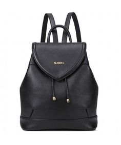 f560bab718e5 Women Genuine Leather Backpack Purse Satchel Shoulder School Bags College  Bookbag - 5-black -