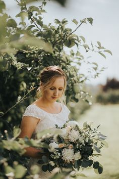 Beautiful Bridals done in Snohomish Washington at Swan Trails Farm   Wedding Photography by Lauren Christine Parker   Apple Orchard   PNW Wedding