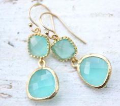 themonogrammerchant.com - Drops of Jupiter Earrings in Aqua  - $47.95 on website