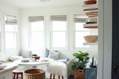 {BEFORE AND AFTER} breakfast nook renovation from blog thimble and cloth
