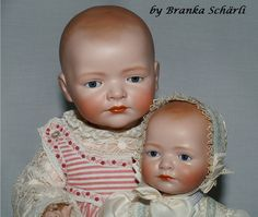 """Original Kestner marked: 272 """"Siegfried"""" with my reproduction"""