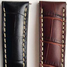 Straps for the GB001 are made from the highest quality crocodile skin, and will be available in two colors. Which would you chose? #GoldemanBrandt #watch #watchstrap #crocodile #DanishDesign #GB001