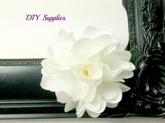 "2.5"" Ivory flower - fabric flowers - wholesale flowers - small flower - boutonnieres - petite flowers on Etsy, $0.99"