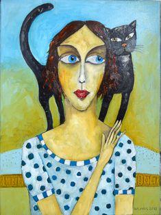 Marika - oil on canvas - Miroslaw Hajnos