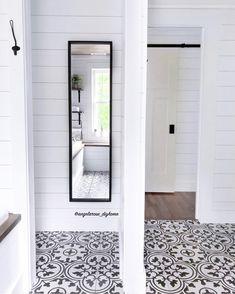 #masterbathroom #bathroomsofinstagram #bathroom #bathroomremodel #bathroomrenovation #bathroominspo #bathroomdesign #neutraldecor #diyhome #shiplap #cementtiles #patternedtiles #woodceiling #bathroommirror #fulllengthmirror #hiddenstorage #whiteandwood #barndoor #rusticmodern #vintagemodern #modernfarmhouse #rusticfarmhouse #minimaliststyle #simplestyle #fixerupper #homerenovation #hyggehome #brightspaces