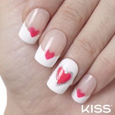 Create this sweet mani with Kiss Nail Artist Paints! *hint* Use our tip guides to get the french tips perfect.