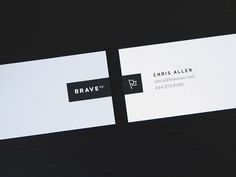 Dribbble - New Business Cards by Chris Allen