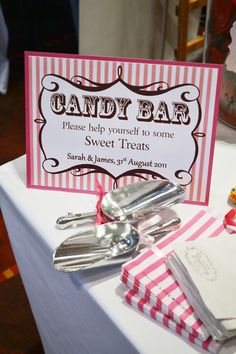 DIY Candy Buffet Bar Sweetie Sweet Table - Sign Labels ...