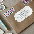 Scalloped Address Labels - love this website!