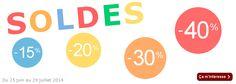 Durant les prochaines semaines et jusqu'au 29 juillet 2014, vous pouvez retrouver de nombreuses créations soldées sur la boutique : http://www.jecree-tucraques.com/11-soldes