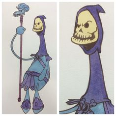 Skeletor illustration Masters of the Universe by spaghettikiss, $20.00