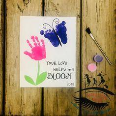 toddler infant handprint and footprint art your love helps me bloom mothers day toddler painting sibling art - The world's most private search engine Kids Crafts, Easy Mother's Day Crafts, Daycare Crafts, Preschool Crafts, Easter Crafts For Toddlers, Daycare Rooms, Quick Crafts, Family Crafts, Grandparents Day Crafts