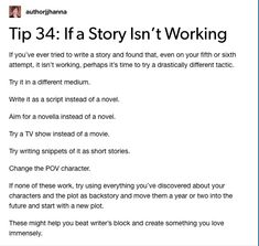 writing tips from tumblr Creative Writing Prompts, Book Writing Tips, Writing Words, Writing Skills, Writer Tips, Writing Help, Writing Ideas, Writing Memes, Writing Characters