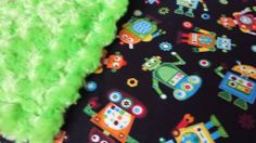 Robots Baby Blanket  $36.35  Can make a Toddler size. Various colors available.