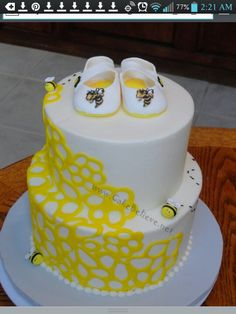 Very Creative Cake For Bumble Bee Theme Baby Shower