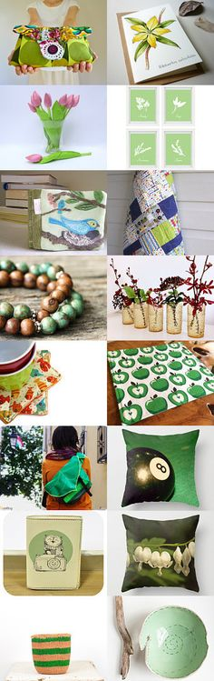BeLuli Designs featured, our Retro Apple placemats. Thank you!  la maison des feuilles by Yann Photographer on Etsy--Pinned+with+TreasuryPin.com