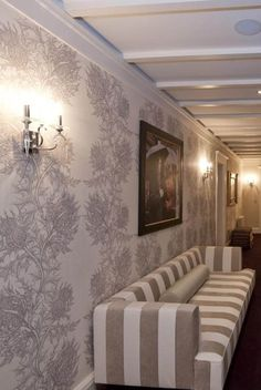 Thistle super wide wallpaper and stripes! Timorous Beasties available at walnut wallpaper #wallpaper