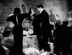 "Katharine Hepburn and Cary Grant in ""Holiday"" (1938)."
