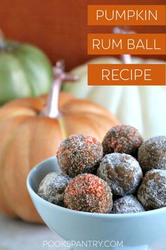 Pumpkin rum balls are the perfect treat for all of your fall celebrations. This version is made with graham crackers instead of the usual wafer cookies, making them reminiscent of pumpkin pie. Pumpkin Pie Recipes, Pumpkin Bread, Pumpkin Spice, Rum Balls, Alcoholic Desserts, Wafer Cookies, Holiday Recipes, Holiday Ideas, Spiced Rum
