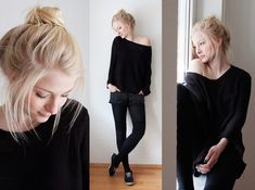 Joana ♡ - H&M Pulli, H&M Strumpfhose, C&A Kniestrümpfe, Keds Schuhe, H&M Shorts - The black sheep   LOOKBOOK