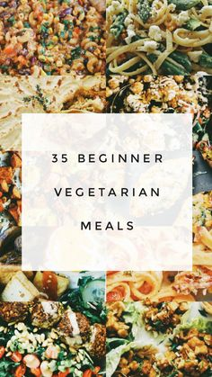 25 Beginner Vegetarian Meals: Veggie Yum Flavorful meals without meat? You got it! If you're a beginner vegetarian or you just want to try something new, enjoy these delicious vegetarian meals this week! Beginner Vegetarian, Tasty Vegetarian Recipes, Vegetarian Lifestyle, Going Vegetarian, Vegetarian Recipes Dinner, Veggie Recipes, Healthy Recipes, Cooking Recipes, Cheap Vegetarian Meals