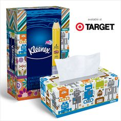 New box designs for a new school year! Look for these stylin' boxes at your nearest Target.