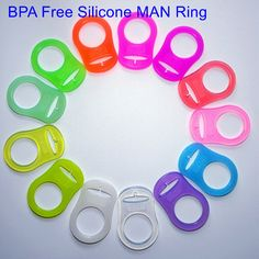 130 pcs food grade BPA Free silicone pacifier ring dummy ring mam ring adapter for NUK 13 color option