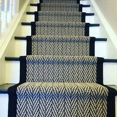 Stair Running in Herringbone