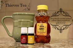 Thieves Tea Recipe for sore throat, cold, immune system boost
