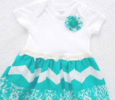 Onesie Dress Chevron / Baby Girl by vpettet on Etsy, $16.50