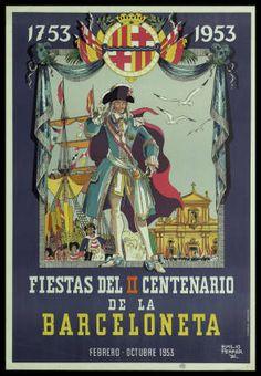 Fiestas del II Centenario de la Barceloneta : Febrero - Octubre 1953 :: Cartells (Biblioteca de Catalunya)