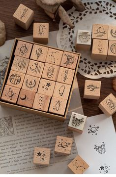 Retro Moon And Sixpence Stamp Wooden Rubber Stamps Scrapbooking Diary DIY Craft Moon Crafts, Diy Crafts, Cloud Decoration, Wood Stamp, Custom Stamps, Hand Carved, Planets, Gifts For Her, Craft Ideas