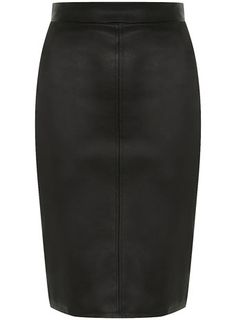 I would LOVE to have a black leather pencil skirt... Classy with a hint of attitude :-)