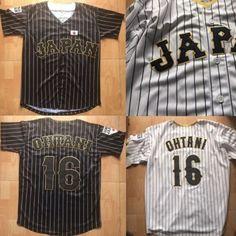 6ea060a0f35b Details about Shohei Ohtani 16 Japan Samurai Pinstriped Baseball Jersey MEN  BLACK WHITE
