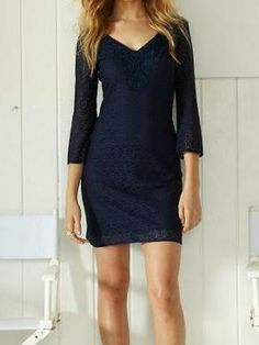 Lilly Pulitzer Alden Lace Tunic Dress in True Navy