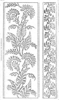 Discover thousands of images about AR 1812 6 Cushion Embroidery, Embroidery Motifs, Machine Embroidery Patterns, Folk Art Flowers, Flower Art, Border Embroidery Designs, Pencil Design, Fabric Painting, Pattern Art