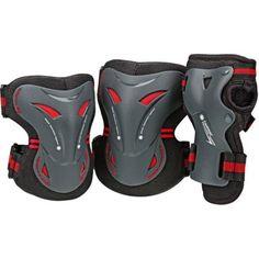 Tarmac Knee/Wrist/Elbow Guards Tri Pack, Adult, Black
