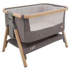 CoZee Bedside Crib – Oak and Charcoal