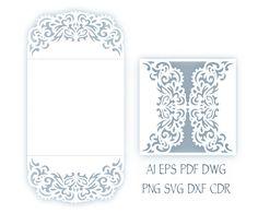Faire-part de mariage de SVG 5 x 5'' porte plier le