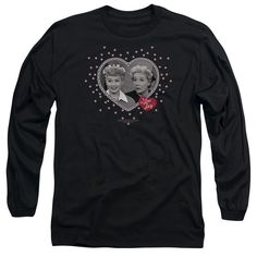Lucy - Hearts And Dots Adult Long Sleeve T-Shirt
