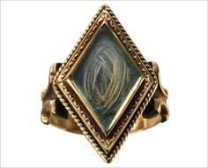 Victorian Mourning Ring with Lock of Hair